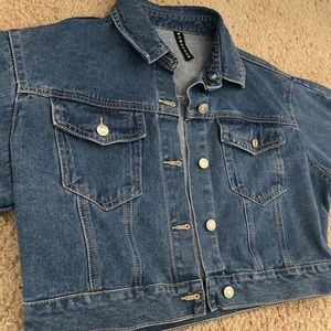 Momokrom Blue Balloon Sleeve Denim Jacket